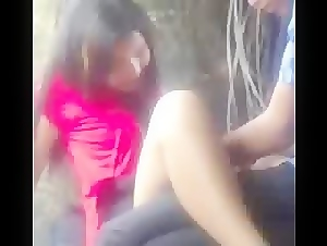 Asian outdoor fun fingering my GF pussy
