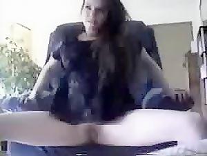 Cute brunette babe spreading her legs for me