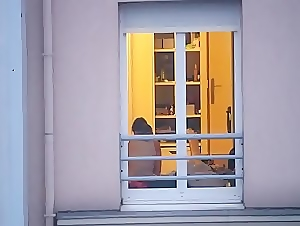 Watching my french neighbor from our window