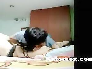 Asian couple intense sex clip in hotel