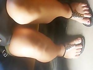 Peeking at her tight panty
