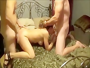 Homemade threesome with friend and wife