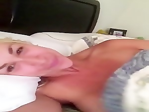 my norweigan girlfriend just woke up showing her tight pussy