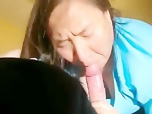 homemade asian cougar porn video sucked my cock hard 58years old